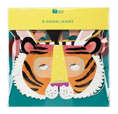 Party Animals Paper Masks Decor Talking Tables