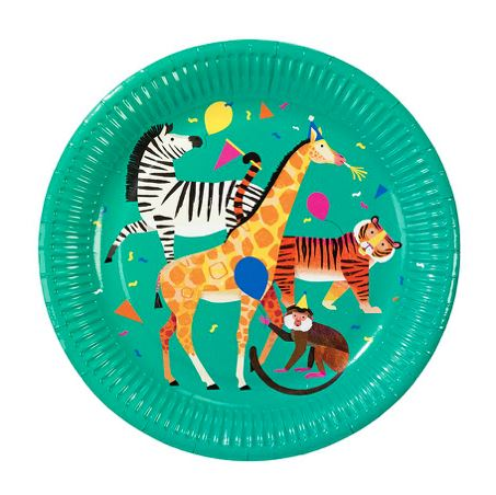Party Animals Plate (Lg) Tabletop Talking Tables