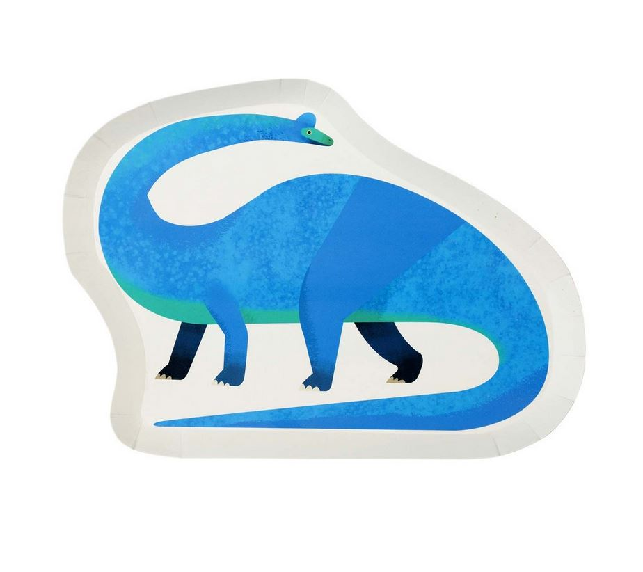 Party Dinosaurs Shaped Plate Tabletop Talking Tables