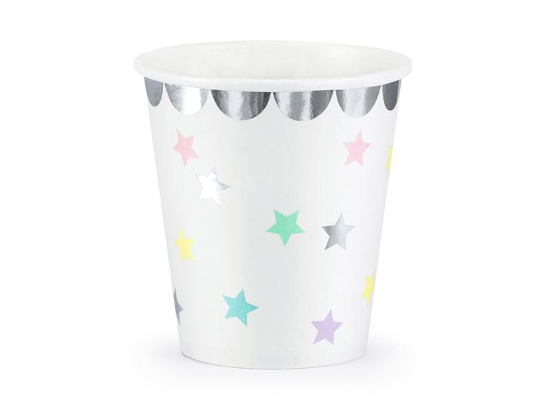 Pastel Star Cups Tabletop Party Deco