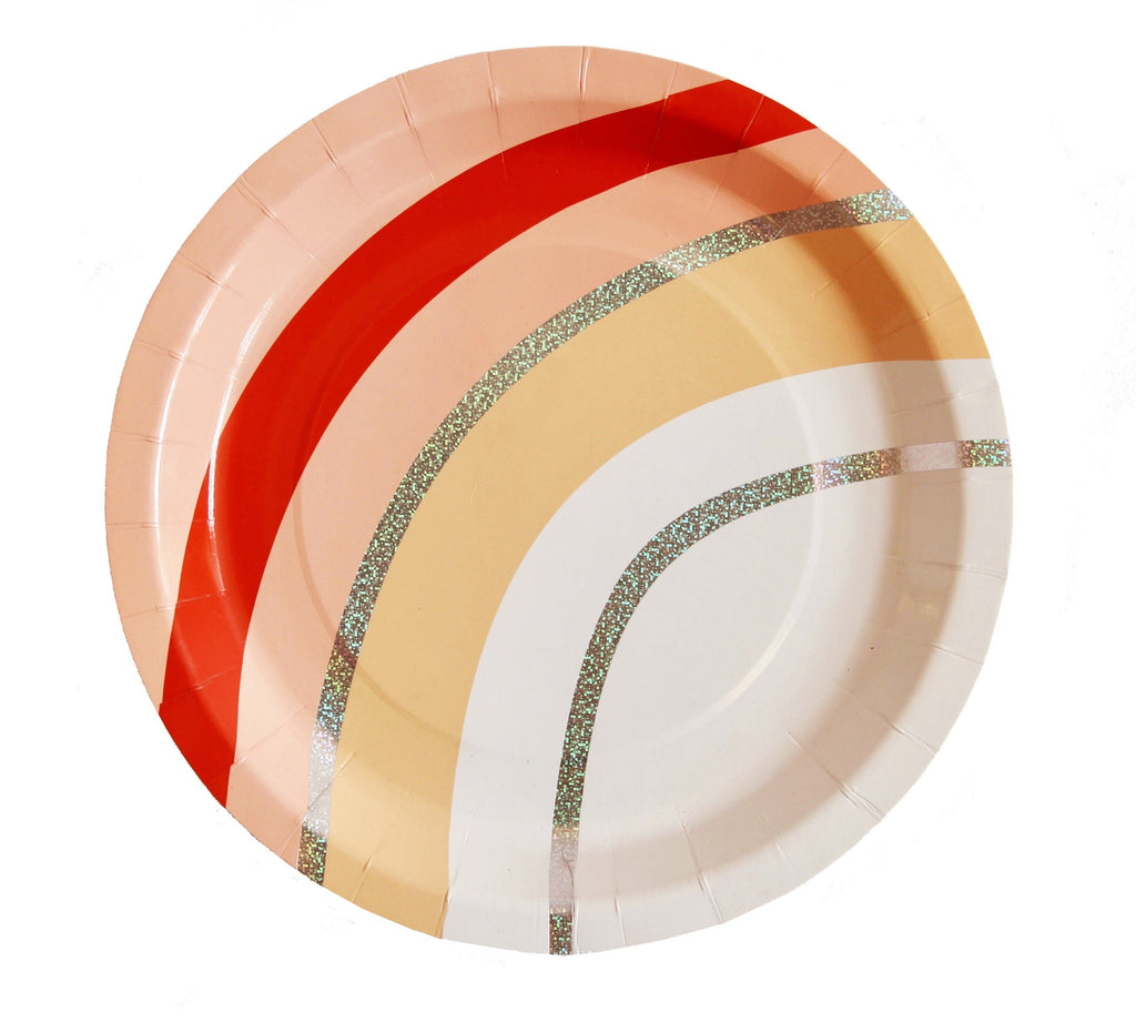 Peachy Vibes Plate (Lg) Tabletop Bash Party Goods