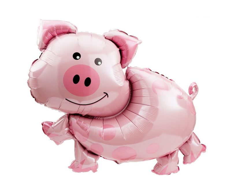 "Pink Pig Shaped Balloon 35"" Balloons Bargain Balloons"