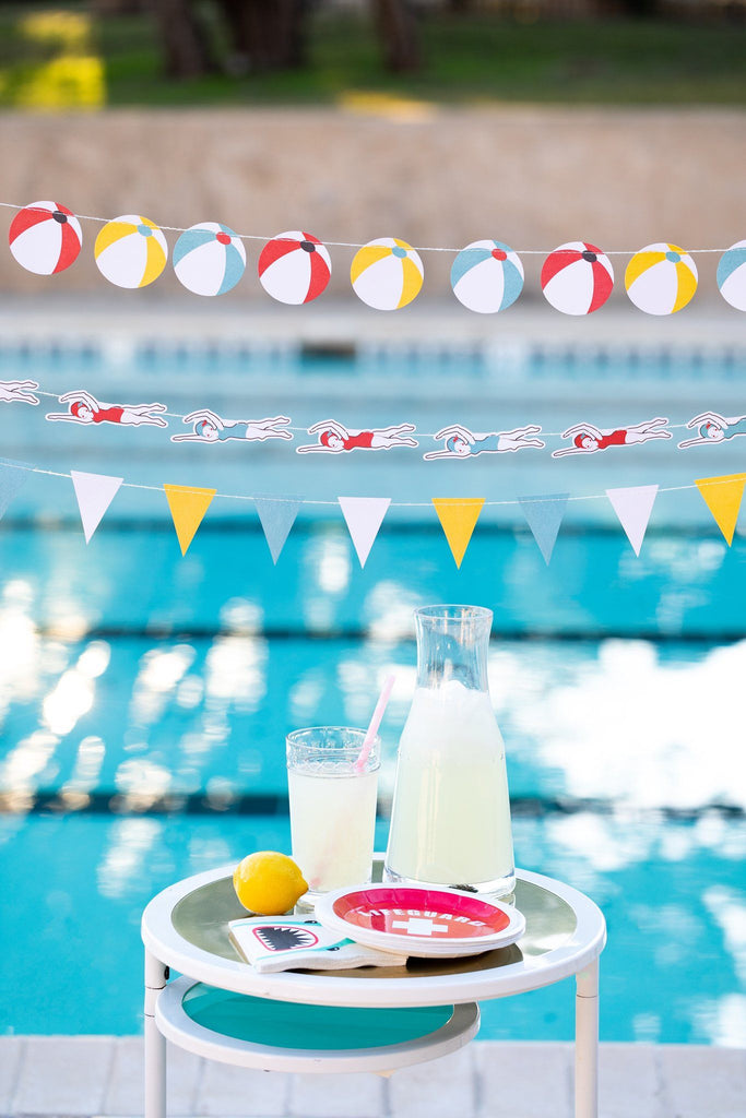 Pool Party Banner Set Decor My Mind's Eye