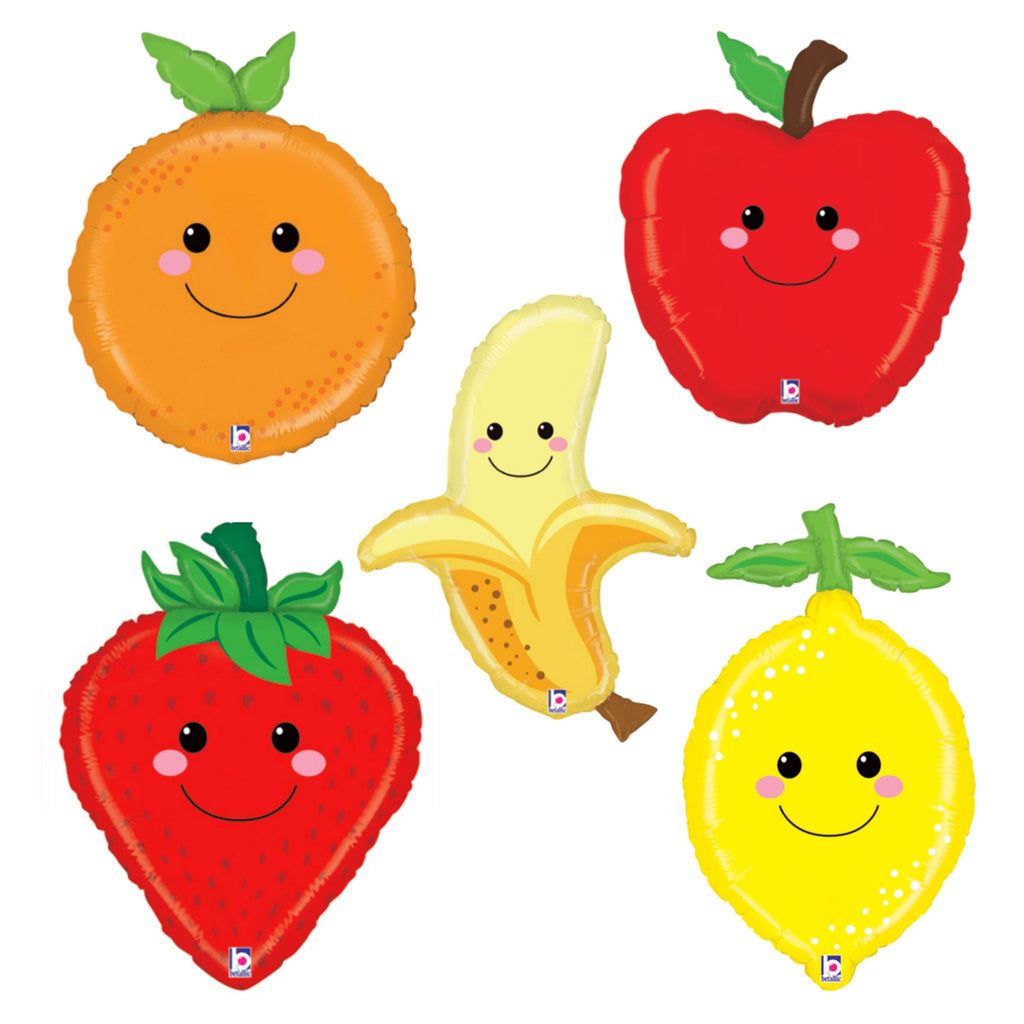 Produce Pals Happy Fruit Balloon - Individual Balloons Rainbow Balloons