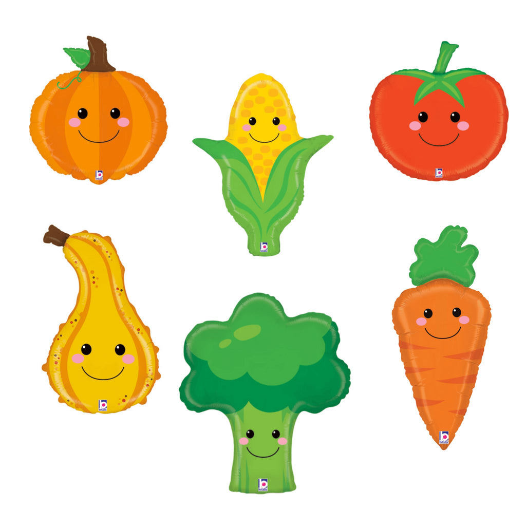 Produce Pals Happy Veggie Balloon Bunch Balloons Rainbow Balloons