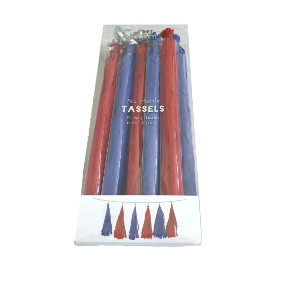 Red & Blue Tassels Decor Meri Meri