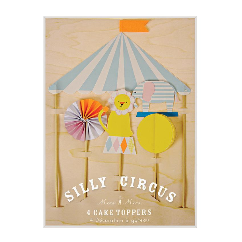 Silly Circus Cake Topper Decor Meri Meri