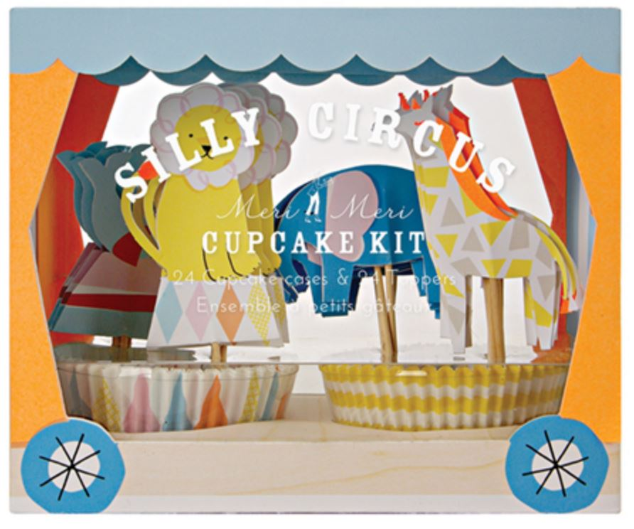 Silly Circus Cupcake Kit Decor Meri Meri