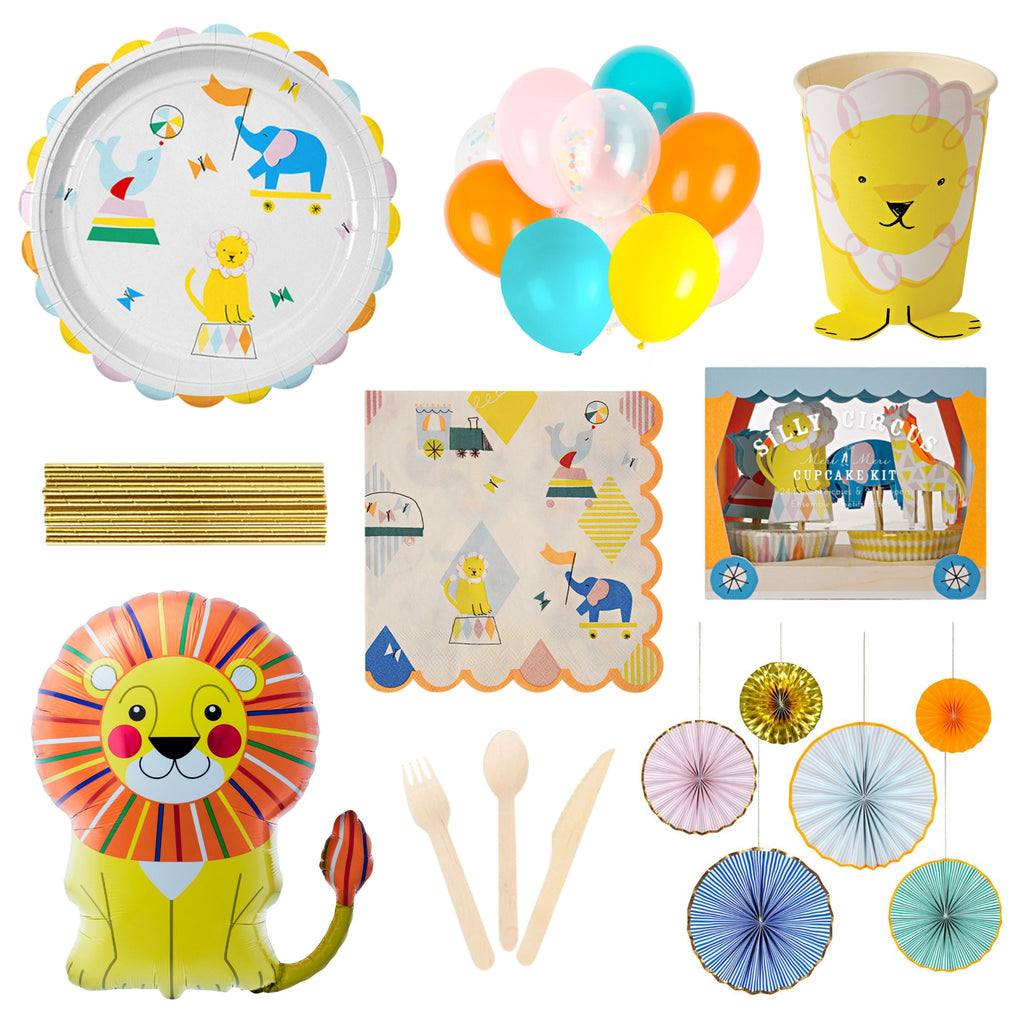 Silly Circus Party Set for 16 Party Set Lou & Pepper Party Shop