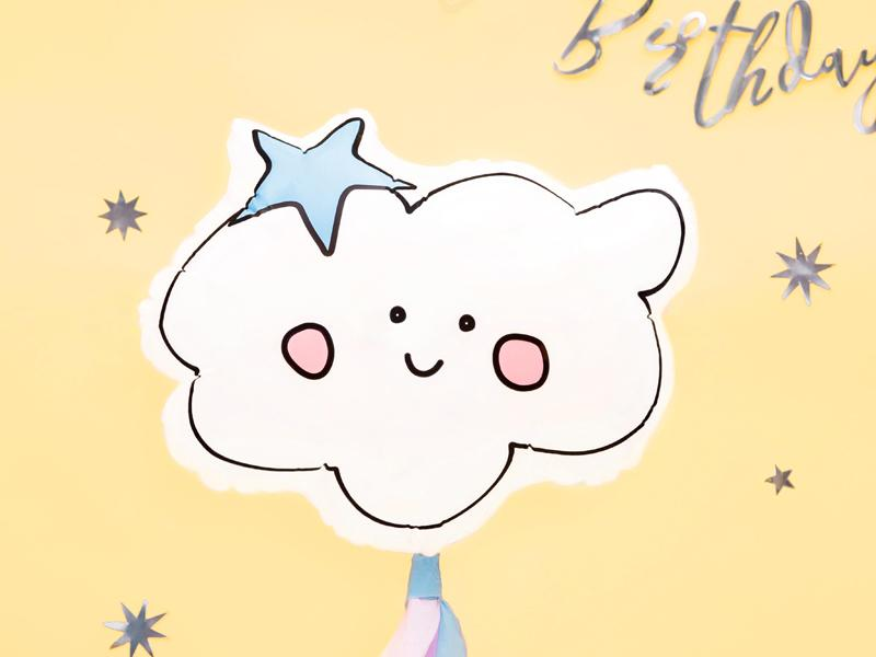 "Smiling Cloud Balloon 21"" Balloons Party Deco"