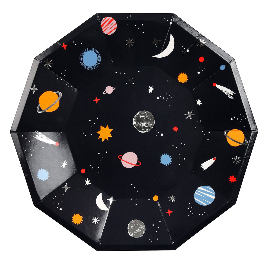 Space Plates (Lg) Tabletop Meri Meri