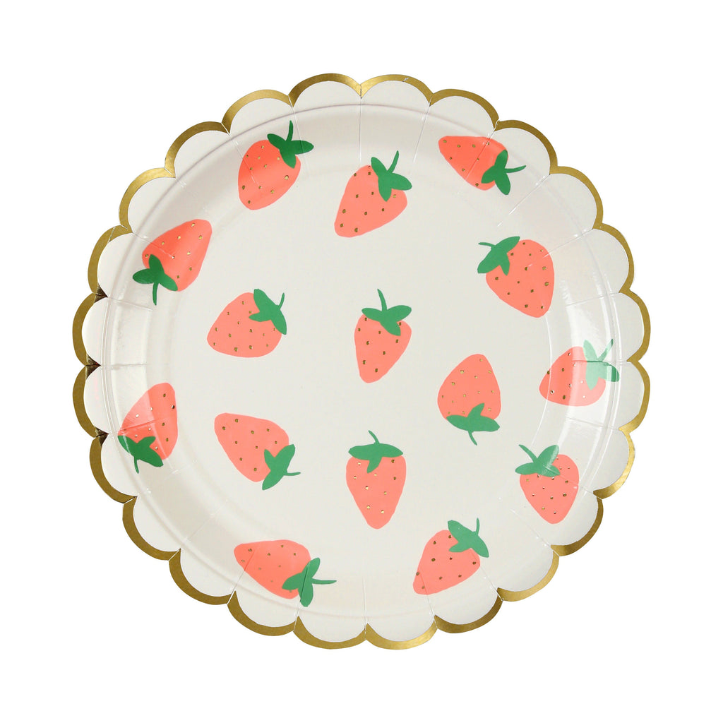 Strawberry Plates (Sm) Tabletop Meri Meri