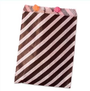 Striped Treat Bags Lou & Pepper Party Shop Black & White