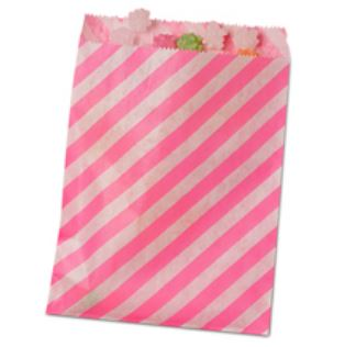 Striped Treat Bags Lou & Pepper Party Shop Hot Pink & White