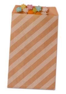 Striped Treat Bags Lou & Pepper Party Shop Kraft & White