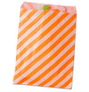 Striped Treat Bags Lou & Pepper Party Shop Orange & White