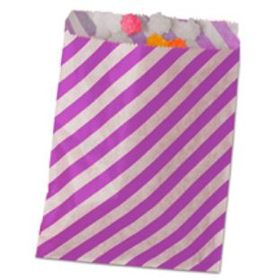 Striped Treat Bags Lou & Pepper Party Shop Purple & White