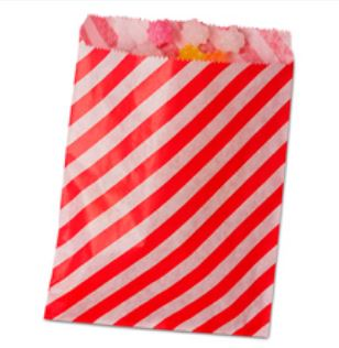 Striped Treat Bags Lou & Pepper Party Shop Red & White