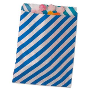 Striped Treat Bags Lou & Pepper Party Shop Royal Blue & White