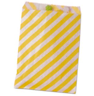 Striped Treat Bags Lou & Pepper Party Shop Yellow & White