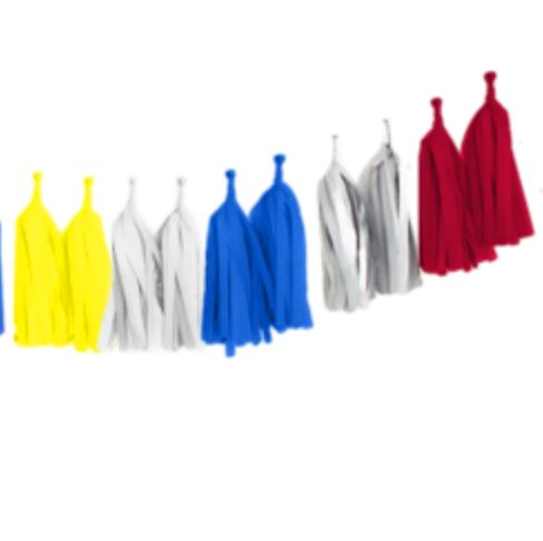 Tissue Tassel Garlands (16 tassels) Decor The Flair Exchange superhero
