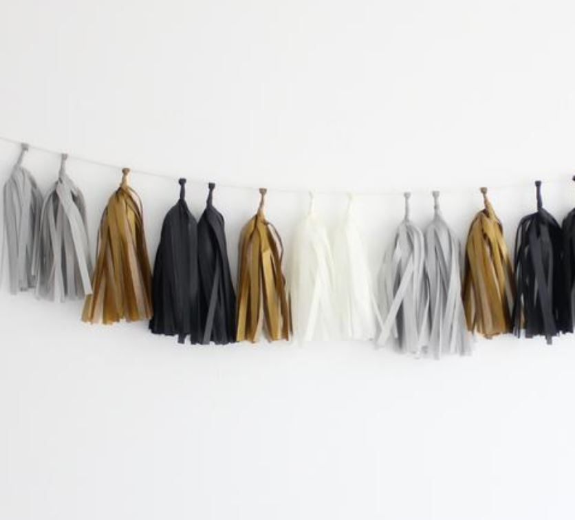 Tissue Tassel Garlands (16 tassels) Decor The Flair Exchange tuxedo