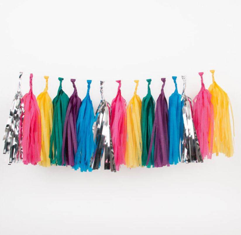 Tissue Tassel Garlands (20 tassels) Decor My Little Day bright