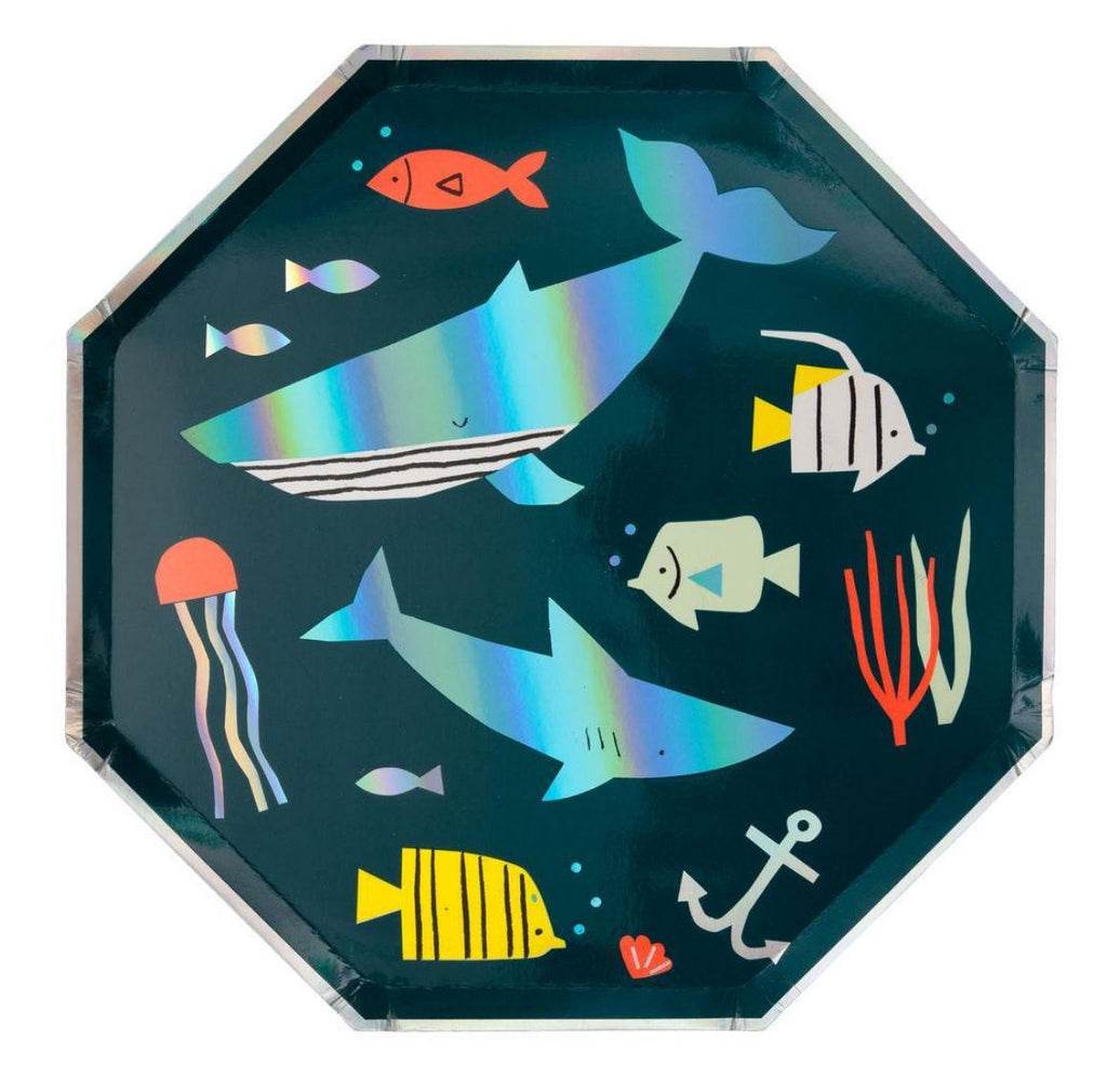 Under the Sea Plates (Lg) Tabletop Meri Meri