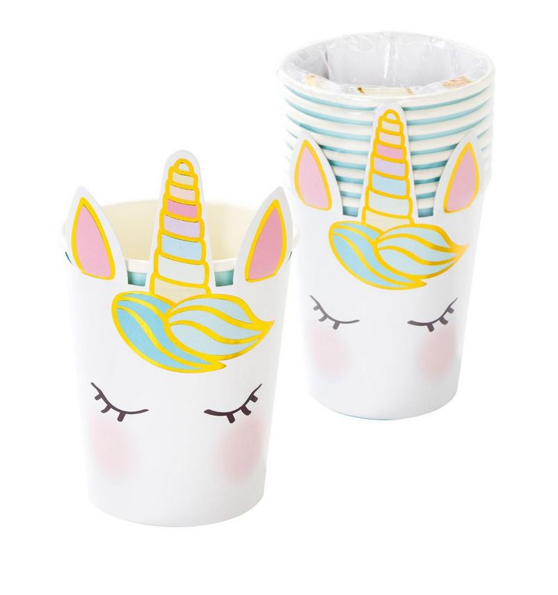 Unicorn Face Cups Tabletop Talking Tables