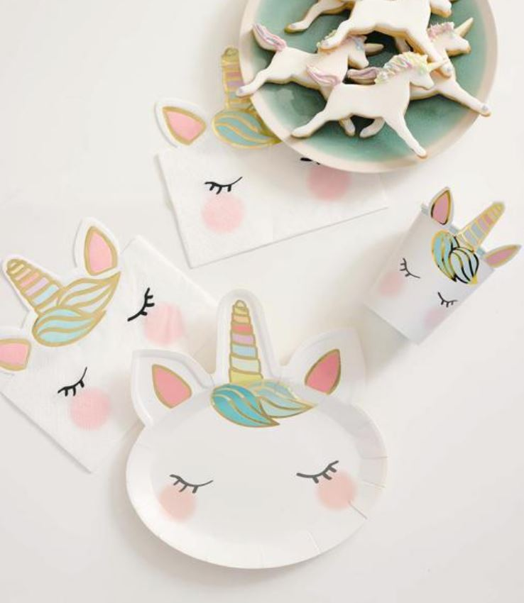 Unicorn Face Plates (Sm) Tabletop Talking Tables
