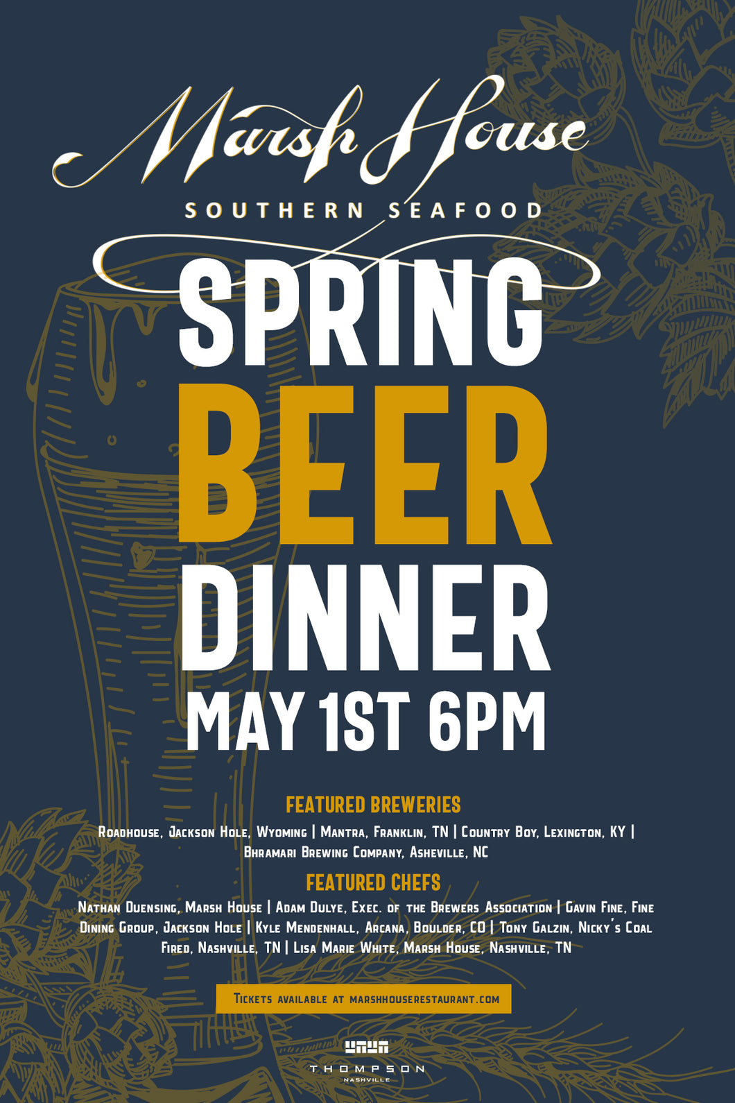 Marsh House Spring Beer Dinner