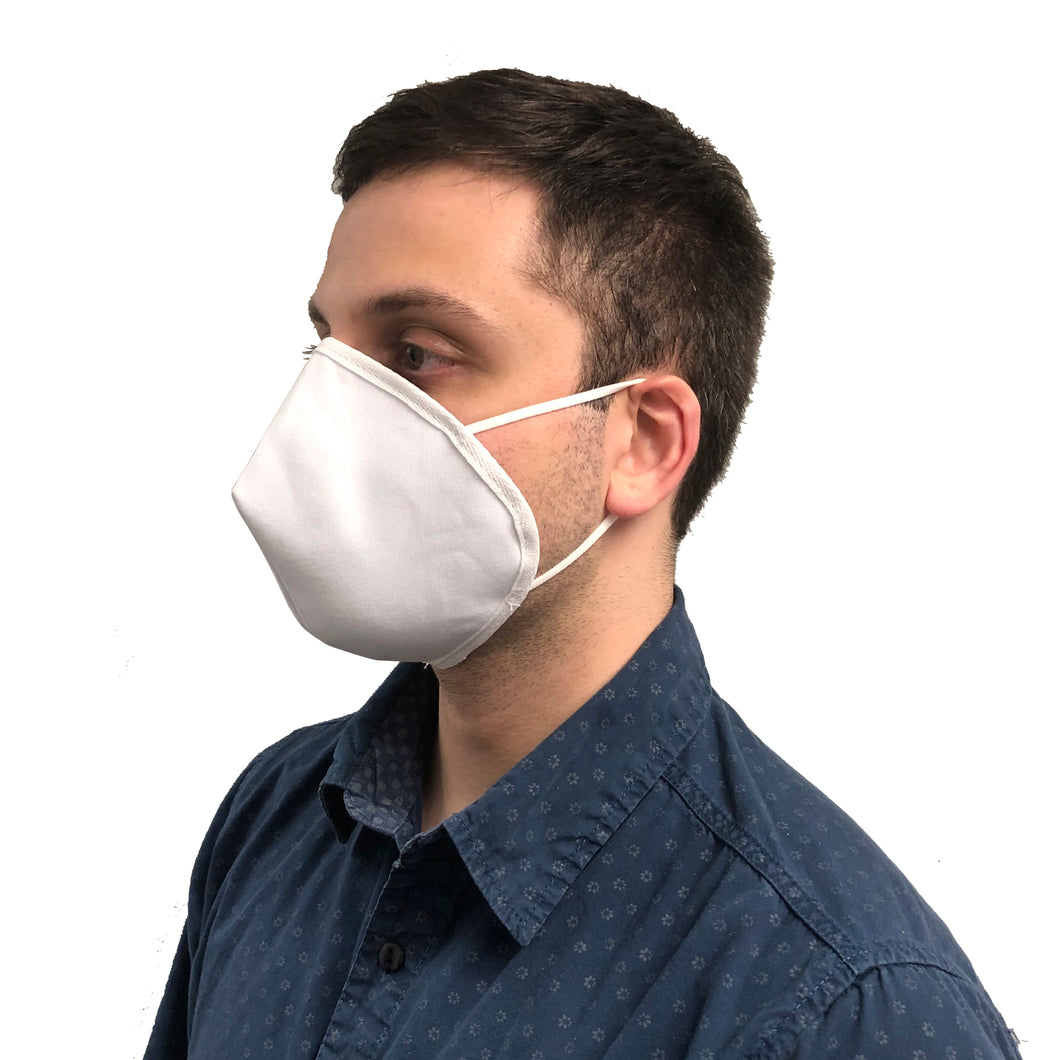 Man Wearing Cloth Face Mask