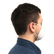 Side View of Man Wearing Cloth Face Mask