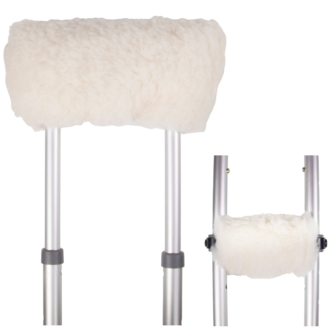 6268NA / Natural Sheepskin Crutch Covers
