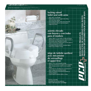 7016 / Molded Raised Toilet Seat with Removable Arms
