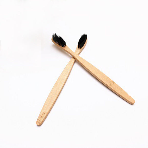 Ecological Bamboo Toothbrush with Bamboo Charcoal Bristles (Soft)