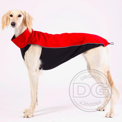 Sighthound/Whippet Soft Shell Jacket ( Red, Green, and Grey)