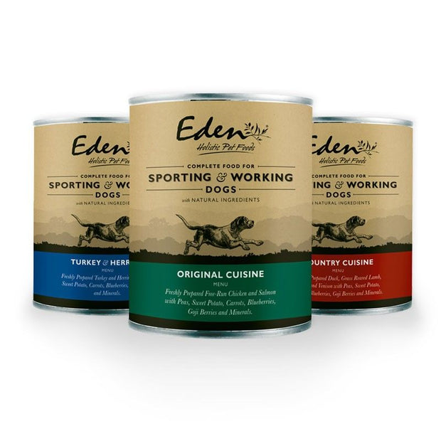 Eden Wet Food for Sporting and Working Dogs- Turkey & Herring (400g)