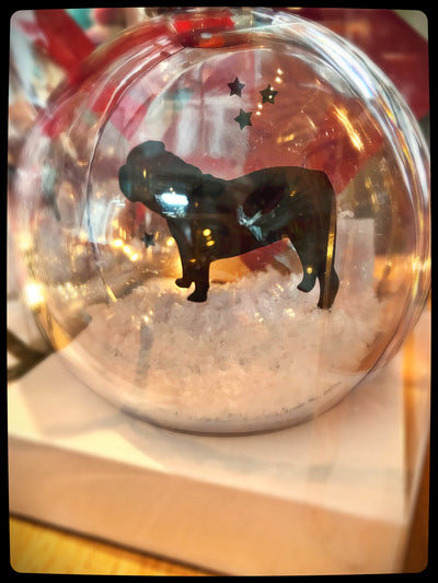 British/English Bulldog Bauble