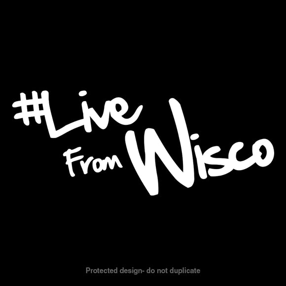 Live From Wisco Logo Decal