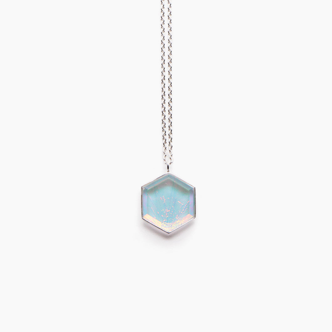 Luna Hexagon Necklace - Lagoon