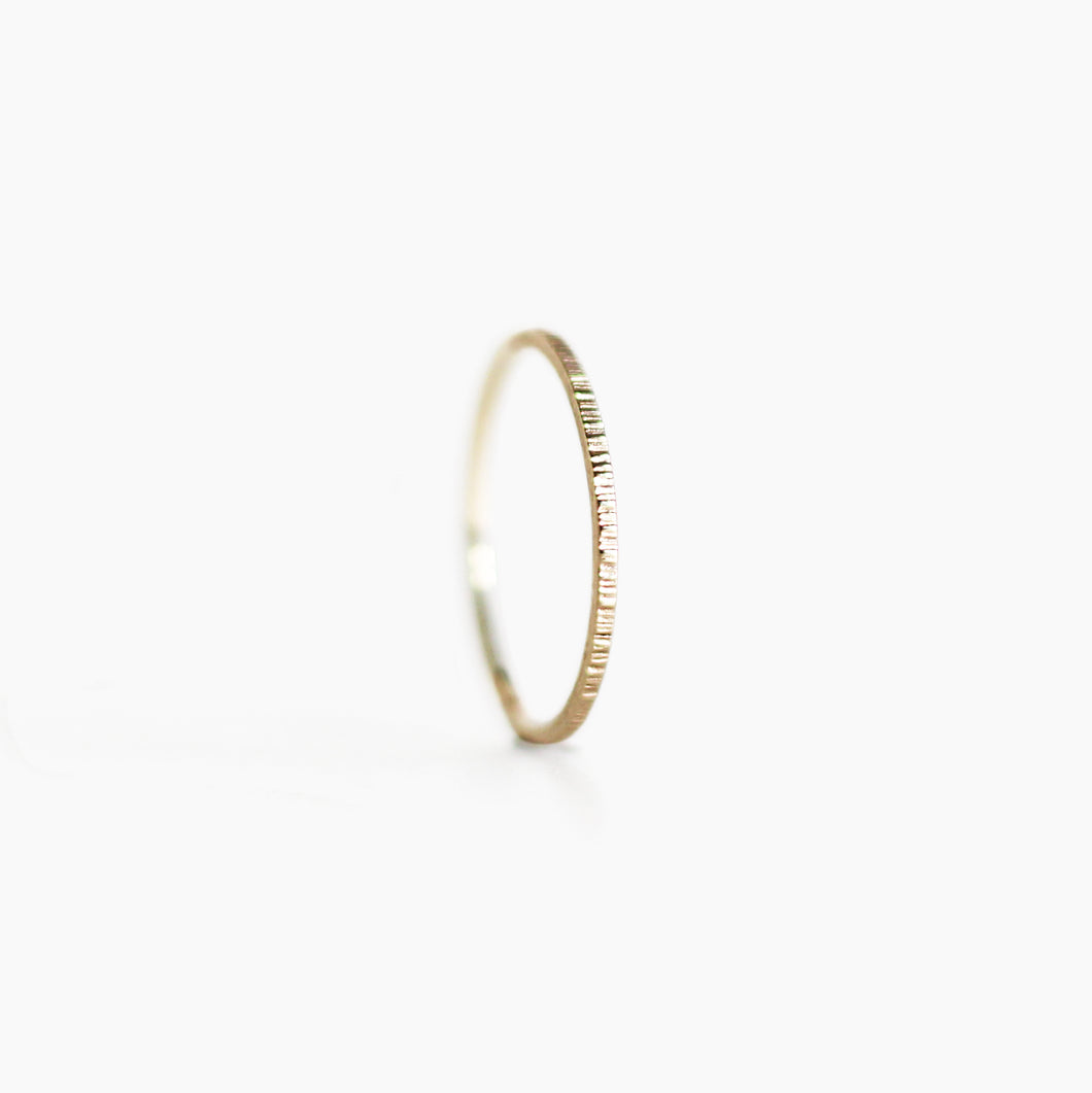 Hammered Ring - 9ct Gold