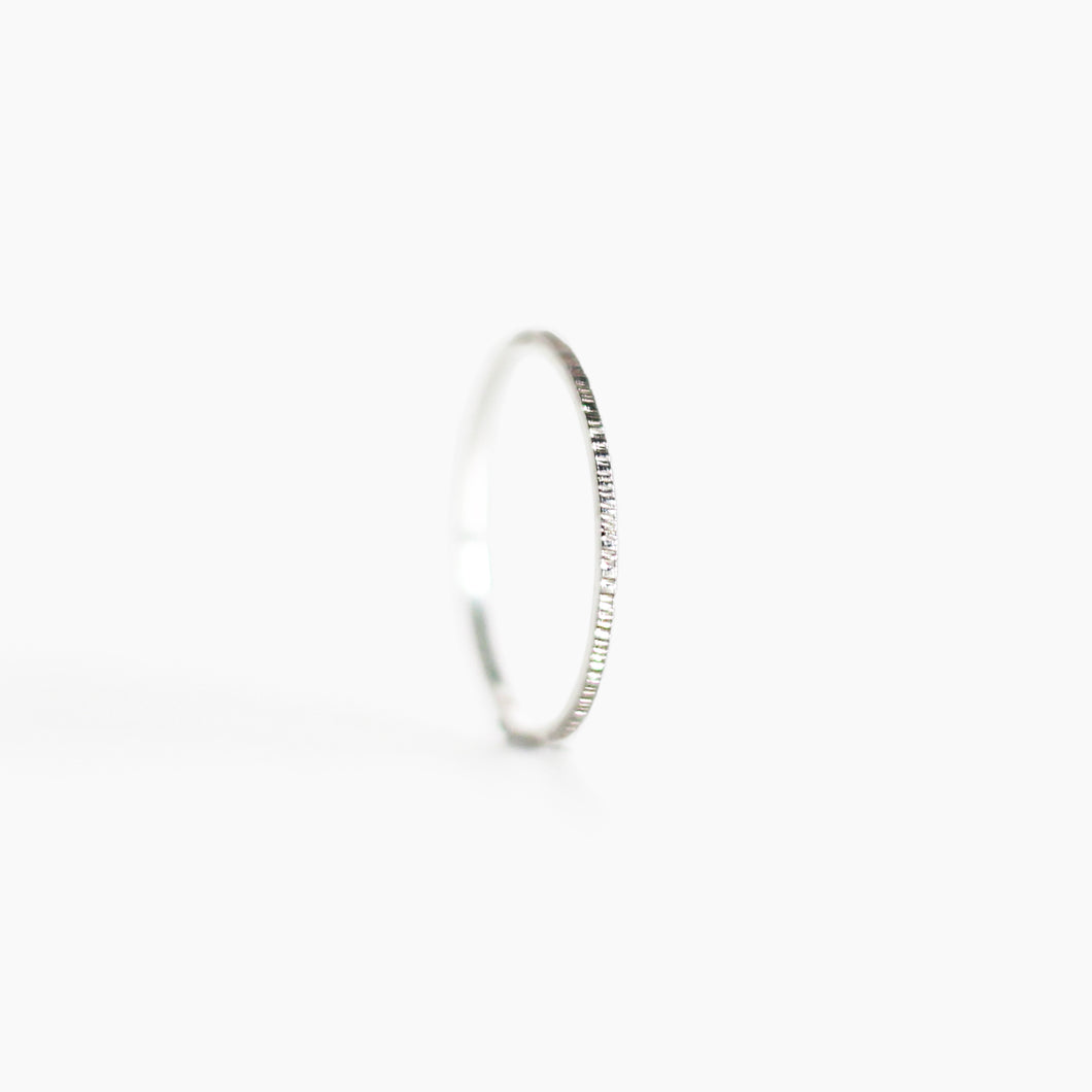 Hammered Ring - Silver