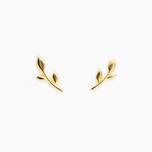 ZZ Stud Earrings - Golden