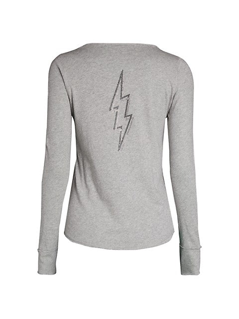 Tunisien Metallic Lightning Bolt Henley