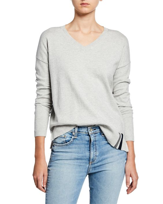 Patch Perfect Cotton/Cashmere Sweater