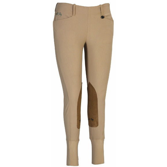 Equine Couture Coolmax Champion Side Zip Breeches - Womens Plus