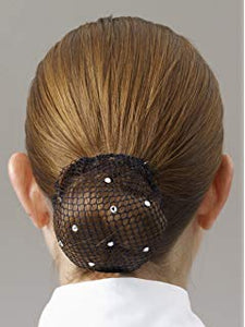 Showquest Bun Net Clear Crystals
