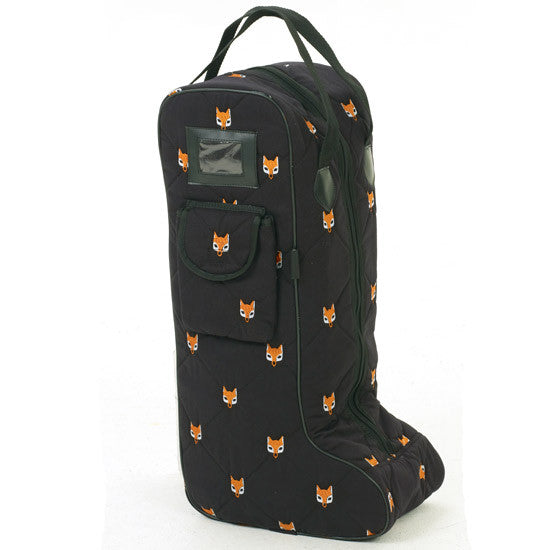 Embroidered Fox Boot Bag