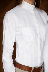 Paris Show Shirt Special Edition White/White Stripe - Ladies